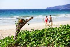 Bangtao海滩,普吉岛,泰国 免版税库存照片
