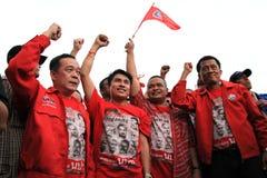 BANGUECOQUE - 10 DE DEZEMBRO: Demonstração vermelha do protesto das camisas - Tailândia Imagem de Stock