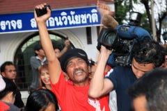BANGUECOQUE - 10 DE DEZEMBRO: Demonstração vermelha do protesto das camisas - Tailândia Foto de Stock