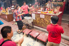 BANGUECOQUE, - 10 DE FEVEREIRO: Ano novo chinês 2013 - celebrações dentro Imagem de Stock