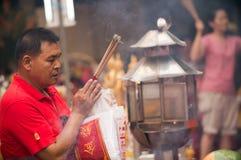 BANGUECOQUE, - 10 DE FEVEREIRO: Ano novo chinês 2013 - celebrações dentro Fotos de Stock