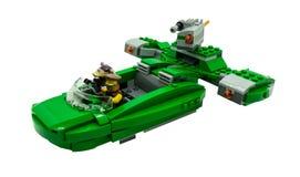 Banguecoque, atores dos starwars de Lego no filme dos starwars no shi do espaço foto de stock
