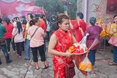 BANGUECOQUE, Chinatown/THAILAND- 10 de fevereiro: Ano novo chinês Imagens de Stock Royalty Free