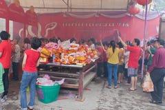 BANGUECOQUE, Chinatown/THAILAND- 10 de fevereiro: Ano novo chinês Imagens de Stock