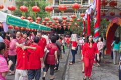 BANGUECOQUE, Chinatown/THAILAND- 10 de fevereiro: Ano novo chinês Fotografia de Stock