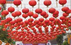BANGUECOQUE, Chinatown/THAILAND- 10 de fevereiro: Ano novo chinês chinês das tradições do ano novo Imagens de Stock
