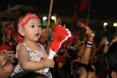 BANGUECOQUE - 10 DE DEZEMBRO: Demonstração vermelha do protesto das camisas - Tailândia Fotografia de Stock Royalty Free