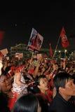 BANGUECOQUE - 10 DE DEZEMBRO: Demonstração vermelha do protesto das camisas - Tailândia Imagem de Stock Royalty Free