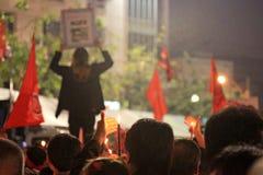 BANGUECOQUE - 10 DE DEZEMBRO: Demonstração vermelha do protesto das camisas - Tailândia Fotos de Stock