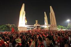 BANGUECOQUE - 10 DE DEZEMBRO: Demonstração vermelha do protesto das camisas - Tailândia Foto de Stock Royalty Free