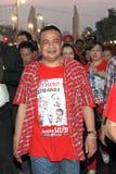 BANGUECOQUE - 10 DE DEZEMBRO: Demonstração vermelha do protesto das camisas - Tailândia Fotos de Stock Royalty Free