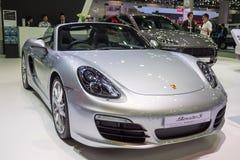BANGUECOQUE - 10 DE DEZEMBRO: Porsche Boxster S indicado sobre em Thaila Fotografia de Stock