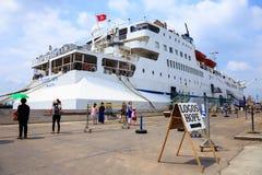 BANGUECOQUE - 3 DE MARÇO DE 2013: A esperança dos logotipos deixada cair visitou Banguecoque Fotografia de Stock Royalty Free
