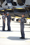A equipe acrobática do jato de Breitling da equipe executa Fotografia de Stock
