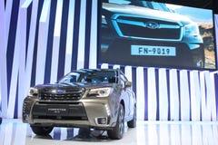 Banguecoque - 31 de março: Subaru Forestep 2 0 IP no carro preto na 37th exposição automóvel internacional 2016 de Banguecoque Ta Imagem de Stock Royalty Free
