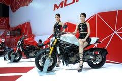 BANGUECOQUE - 24 DE MARÇO: Velomotor do Superbike de Ducati Imagem de Stock Royalty Free