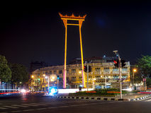 BANGUECOQUE - 18 de outubro balanço gigante em Banguecoque Tailândia, público, editoria Fotos de Stock Royalty Free
