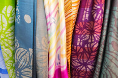 Banguecoque de seda tailandesa Tailândia Fotos de Stock Royalty Free