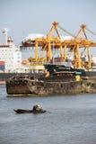 BANGUECOQUE, fevereiro 26,2015: Autoridade portuária de Tailândia foto de stock