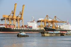 BANGUECOQUE, fevereiro 26,2015: Autoridade portuária de Tailândia imagem de stock royalty free