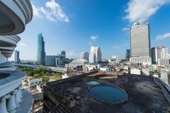 BANGUECOQUE, o 21 de fevereiro: Opinião de Banguecoque o 21 de fevereiro de 2015, Bangko Foto de Stock
