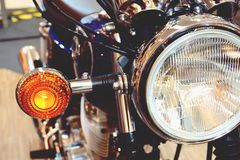 Banguecoque, Tailândia 1º de fevereiro de 2019: A motocicleta do yamaha do detalhe-Um da bicicleta do motor foi mostrada no shopp fotos de stock royalty free