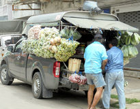 Banguecoque-Tailândia: Coisa popular da tenda movente em Tailândia Imagem de Stock