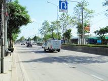 Banguecoque-Tailândia: Condições flexíveis do tráfego Imagem de Stock Royalty Free
