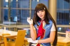 Banguecoque, Tailândia - 22 de abril de 2017: Cosplay que levanta no japão fotografia de stock royalty free