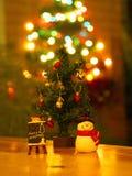 Banguecoque, Tailândia - 19 de dezembro de 2017 Feliz Natal Toy Deco Fotografia de Stock Royalty Free