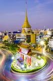 BANGUECOQUE, TAILÂNDIA - 8 DE FEVEREIRO DE 2017: Passagens do tráfego com o qui Fotos de Stock