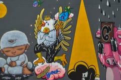 Banguecoque, Tailândia: 29 de janeiro de 2017 na arte de Banguecoque & na arte da parede de centro da cultura no galo chinês do a Imagem de Stock Royalty Free