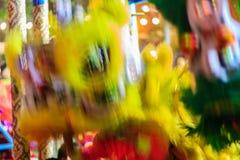 Banguecoque, Tailândia - 29 de janeiro de 2017: Te não identificado da dança de leão Fotos de Stock Royalty Free