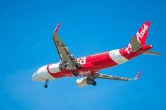 BANGUECOQUE, TAILÂNDIA - 1º DE JUNHO DE 2015: HS-BBG Airbus A320-216 de tailandês Fotografia de Stock