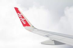 Banguecoque, Tailândia - 25 de junho de 2016: Sagacidade da asa do ` s do plano de Thai AirAsia Foto de Stock