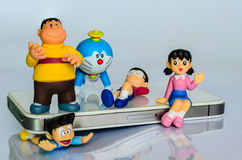 BANGUECOQUE, TAILÂNDIA - 29 DE JUNHO DE 2014: Um modelo de Doraemon em Banguecoque Fotos de Stock Royalty Free