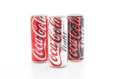 Banguecoque, Tailândia - 22 de maio de 2017: Coca-Cola é um delicado carbonatado Fotografia de Stock Royalty Free