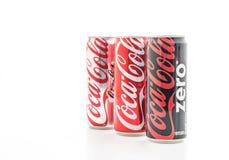 Banguecoque, Tailândia - 22 de maio de 2017: Coca-Cola é um delicado carbonatado Imagens de Stock