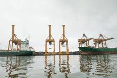Banguecoque, Tailândia - 13 de maio de 2017: Autoridade portuária de Banguecoque de Tha fotos de stock royalty free