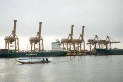 Banguecoque, Tailândia - 13 de maio de 2017: Autoridade portuária de Banguecoque de Tha fotos de stock