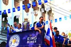 Banguecoque, TAILÂNDIA - 19 de maio de 2016: A cidade de Leicester chega em Banguecoque aos heróis na estrada de Sukhumvit no 19  Fotos de Stock