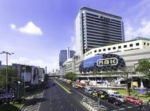 BANGUECOQUE TAILÂNDIA - 5 DE MAIO DE 2016: Opinião Banguecoque e MBK icônico da cidade Foto de Stock Royalty Free