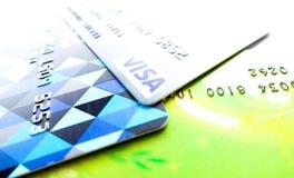 Banguecoque, Tailândia - 30 de maio de 2015: Sinal do cartão visa Imagem de Stock Royalty Free