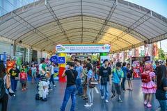 ó Atmosfera da entrada do festival de Tailandês-Japão Anime&Music. fotografia de stock