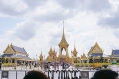 Banguecoque, Tailândia - 10 de novembro de 2017: A exposição real do crematório do rei Bhumibol Adulyadej em SanamLuang Foto de Stock Royalty Free