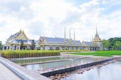 Banguecoque, Tailândia - 10 de novembro de 2017: A exposição real do crematório do rei Bhumibol Adulyadej em SanamLuang Foto de Stock