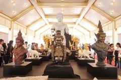 Banguecoque, Tailândia - 10 de novembro de 2017: A exposição real do crematório do rei Bhumibol Adulyadej em SanamLuang Imagens de Stock