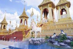 Banguecoque, Tailândia - 10 de novembro de 2017: A exposição real do crematório do rei Bhumibol Adulyadej em SanamLuang Imagem de Stock Royalty Free