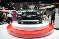 Banguecoque, Tailândia - 30 de novembro de 2018: Feira automóvel do MOTOR de KIA na EXPO internacional 2018 do MOTOR da expo 2018 foto de stock