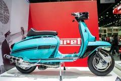 Banguecoque, Tailândia - 30 de novembro de 2018: Motocicleta de Lambretta na EXPO internacional 2018 do MOTOR da expo 2018 do mot foto de stock royalty free